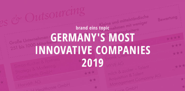 brand eins topic - Germany`s most innovative companies 2019