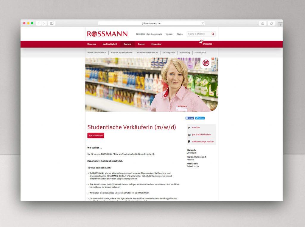 Rossmann Applicant Management Milch Zucker